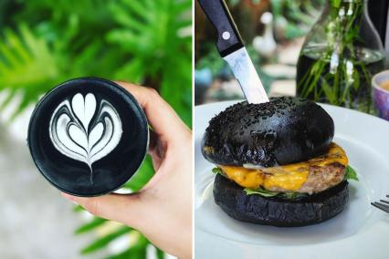 Activated charcoal food trend
